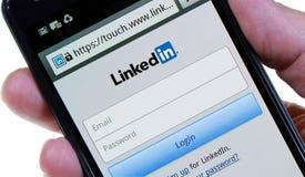 Linkedin-Anmeldungs-Seite Lizenzfreie Stockfotos