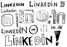 Linkedin Doodles Stock Photo