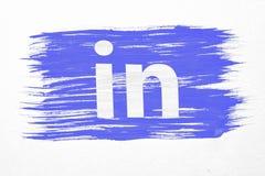 Linkedin-Flagge Lizenzfreies Stockbild