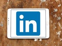 Linkedin logo. Linkedin application logo and vector on samsung tablet Stock Image