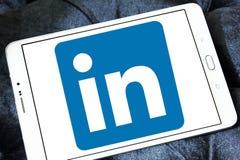 Linkedin logo. Linkedin application logo and vector on samsung tablet royalty free stock photos
