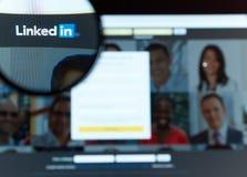Linkedin - Verbindungsleute zusammen Stockbilder
