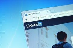 LinkedIn-website royalty-vrije stock afbeeldingen