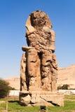 Linker Colossi van Memnon Royalty-vrije Stock Foto