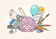 Linker en Juist Brain Concept vector illustratie