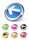 Linker pijlpictogram stock illustratie