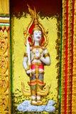 Linker thailändischer Winkel an der Tempel-Säule Stockbild
