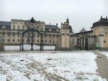 Linkes Portfolio, Kammgarn-stoff Schloss Stockbilder