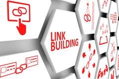 Linkgebäudekonzept lizenzfreie abbildung