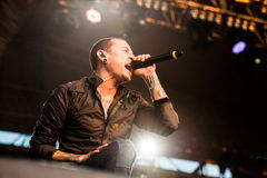 Linkin Park concert royalty free stock image
