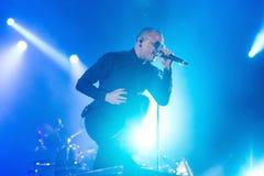 Linkin Park muzyczny zespół wykonuje w koncercie przy ściąganie ciężkiego metalu festiwalem muzyki zdjęcia royalty free