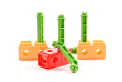 Linking Building Toy. Colorful Children's Linking Building Toys Royalty Free Stock Photography