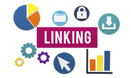 Linking Connection Share Hyperlink Concept Stock Images
