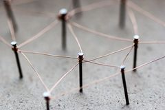 Linking entities network connected. Royalty Free Stock Photos
