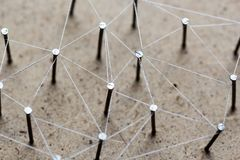 Linking entities network connected. Royalty Free Stock Photo