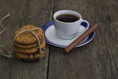 Linking of oatmeal cookies of coffee of a circle Royalty Free Stock Images