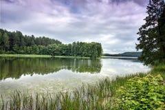 湖linkmenas 库存图片