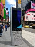 LinkNYC报亭,一个新的通讯网络,时代广场,纽约,美国 库存图片