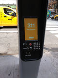 LinkNYC Kiosk, A New Communications Network, 311 City Services, New York City, USA stock image