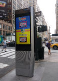 LinkNYC Kiosk, A New Communications Network, Lottery Ad, New York City, USA Stock Images