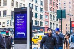 LinkNYC Miasto Nowy Jork Uliczny Fi punkt zapalny Fotografia Stock