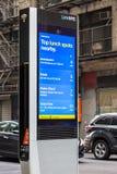 LinkNYC Miasto Nowy Jork Uliczny Fi punkt zapalny Obraz Stock