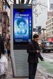 LinkNYC Miasto Nowy Jork Uliczny Fi punkt zapalny Obrazy Stock