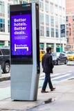 LinkNYC Miasto Nowy Jork Uliczny Fi punkt zapalny Obrazy Royalty Free