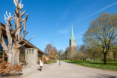 Linkoping cathedral during spring in Sweden Stock Photography