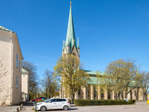 Linkoping cathedral during spring in Sweden Stock Photos