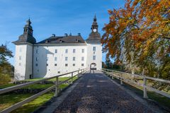 Ekenäs castle during fall in Östergötland, Sweden. Linkoping, Sweden - October 17, 2010: Ekenäs castle during fall in the countryside outside Link stock images