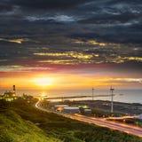 Linkou thermal field sunset, Taiwan Stock Image