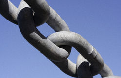 Links. Image of a chain link, depicting strength Royalty Free Stock Images
