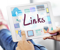 Links Backlinks Hyperlink Linkage Internet Online Concept Stock Photo
