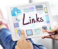 Links Backlinks Hyperlink Linkage Internet Online Concept stock photo
