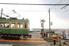 enoden Line in Kamakura, Japan Royalty Free Stock Images
