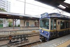 enoden Line in Kamakura, Japan Royalty Free Stock Photo