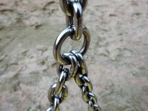 Links of the chain. A metal chain bunched up Royalty Free Stock Photo