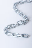 Links of chain on a white background Stock Photo