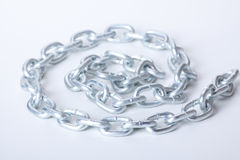 Links of chain on a white background Stock Photos