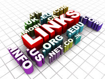 Links. Concept, building  for search engine optimization through different domains Royalty Free Stock Photography
