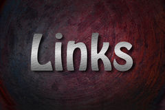 Links Concept. Text backgroud blog stock image