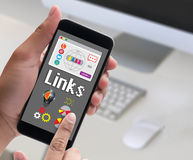 Links Global Communication Connection Hyperlink seo search engin Stock Photography