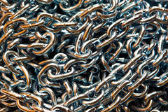 Links of a metal chain Stock Image