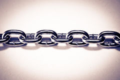 Links of a metal chain Royalty Free Stock Image