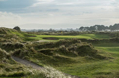 Links spielen Loch der Gleichheit 3 in schleppendem Licht Golf Stockbild