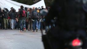 Linksgerichtet und Anarchist gruppiert das Suchen der Aufhebung der neuen Hochsicherheitsgefängnisse
