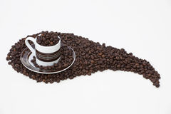 Linkshändiges Espresso Lizenzfreies Stockfoto