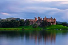 Linlithgow Castle Ruins. The birthplace of Mary Queen of Scots in West Lothian, Scotland stock images