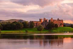 Linlithgow Castle Ruins. The birthplace of Mary Queen of Scots in West Lothian, Scotland stock photo